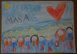 Maša_na sprehodu z učiteljema