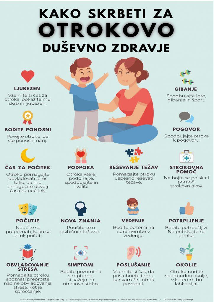 Kako skrbeti za otrokovo duševno zdravje